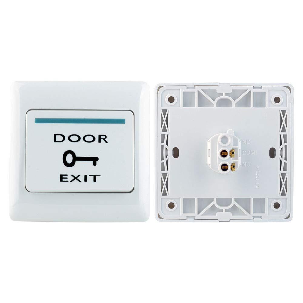 E6 uoweky Interruptor de Emergencia de Liberaci/ón de Bot/ón de Salida de la Puerta de Pl/ástico ABS Ign/ífugo para el Sistema de Control de Acceso de Entrada de Puerta para Todos los Seguros El/éctricos
