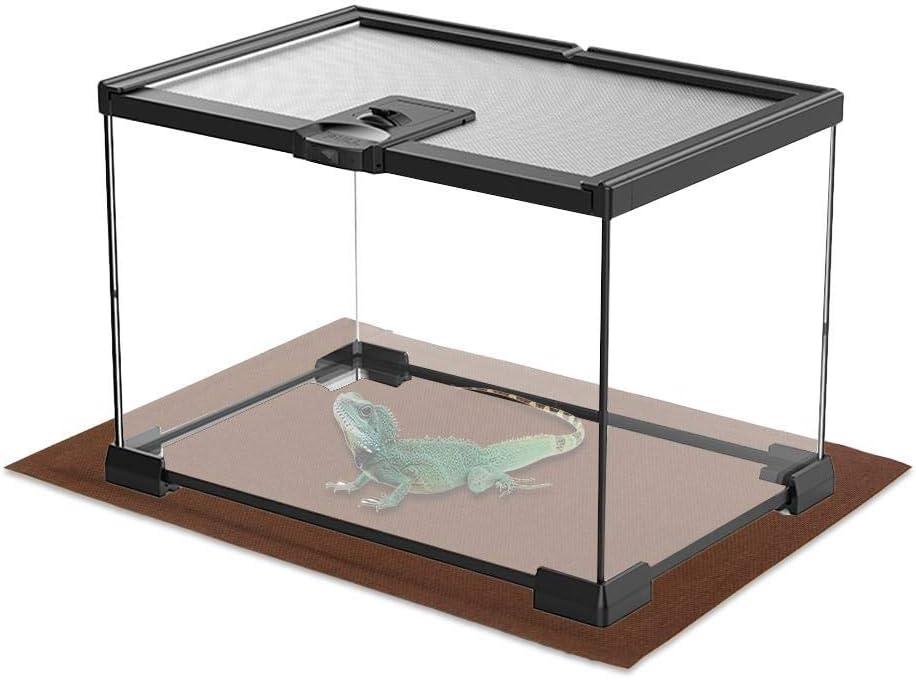 Reptilien-Heizkissen Schlangen Hamster. Hergestellt Aus Pu Und Kohlefaser-Heizmaterial//Wasserdicht Und Feuchtigkeitsbest/ändig//Mit Ergonomischem Design//Einstellbare Temperatur F/ür Eidechsen Spinnen