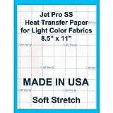 BEST HAND IRON ON TRANSFER PAPER 8.5 X 11'' CUSTOM PACK 100 SHEETS HEAT PRESS