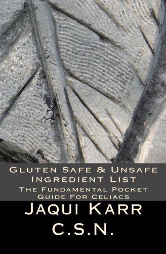 Download Gluten Safe & Unsafe Ingredient List: The Fundamental Pocket Guide For Celiacs pdf epub