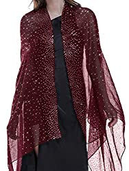 Red Shawl with Rhinestones