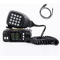 HESENATE MT-225E x QYT(Gen.2 KT-7900D) Mini Base, Mobile Radio FM Transceiver 25/20-Watt Quad-Band 136-174 (2M) 220-260 (1.25M) 400-520MHz (70CM) Portable Two Way Radio Amateur (HAM)