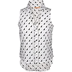 Cat Sitting All-Over Women's Blouse - X-Large