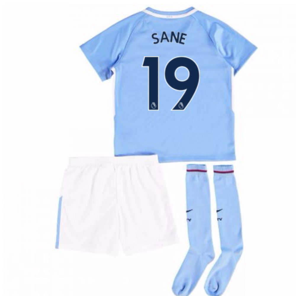 2017-18 Man City Mini Kit (Sane 19) B077PKBYX2Sky Blue LB 6-7yrs (116-122cm)