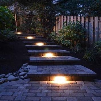 Deck Step and Bench Lights with Mounting Bracket Textured Architectural Bronze Finish Kichler Lighting 15746AZT27 Design Pro LED 2700K 13-Inch Hardscape