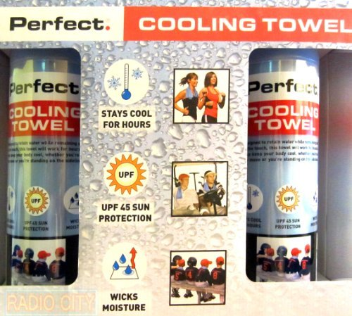 Perfect Cooling Towels. Stays Cool, Wicks Moisture, UPF 45 Sun Protection - (2 Pack) by Perfect Cooling Towels