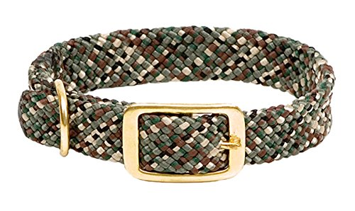 (Mendota Pet Double Braid Dog Collar, Camo, 1 x 18-Inch)