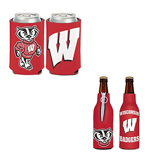 Bundle - 2 Items: University of Wisconsin Bottle Cooler and Can ()