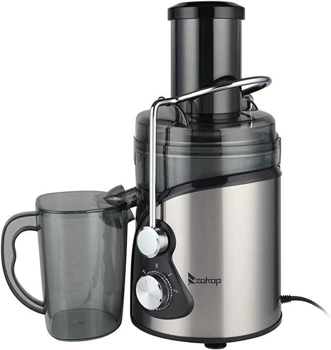 Amazon.com: 110V 800W 85MM Large Diameter 1000Ml Juice Cup 1500Ml Pomace Cup Third Gear Electric Juicer Stainless Steel with Wide Mouth, for Fruits and Vegetables: Sports & Outdoors