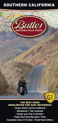 Butler Maps G1 Southern California Motorcycle Map, ()
