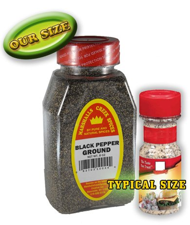 Smoked Black Pepper - Marshalls Creek Spices Smoked Ground Black Pepper Seasoning, 6 Ounce