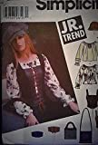 Simplicity Pattern 5799 Jr. Trend Junior's Pullover Peasant Blouse, Corset Vest, Belt, Hats and Bags, BB (11/12-15/16)
