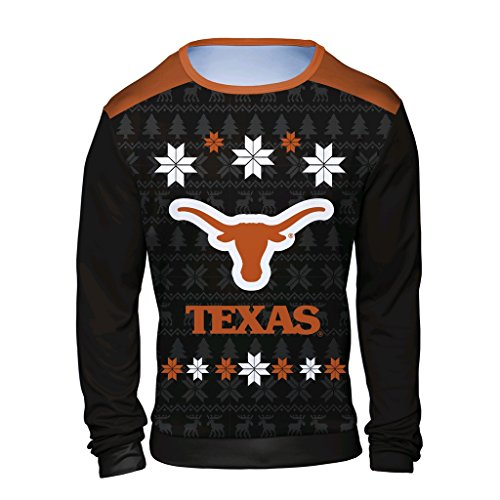 NCAA Texas Longhorns Men's Holiday Ugly Sweater, X-Large, Orange (Pullover Longhorns Texas)
