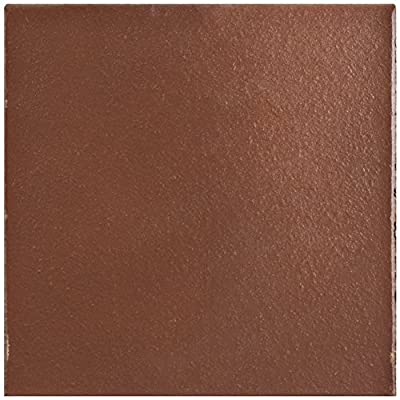 """SomerTile FGA6KFRE Carriere Edge Quarry Floor & Wall Tile, 5.875"""" x 5.875"""", Flame Red"""