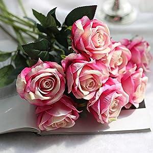 Artificial FlowersArtificial Fake Roses Flannel Flower Bridal Bouquet Wedding Party Home Decor E Home Décor Products Artificial Plants Home Improvement Floral Picks 57