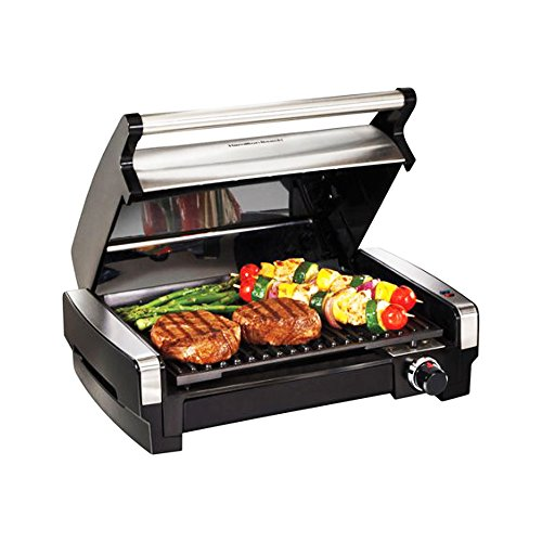 Hamilton Beach 118 sq Indoor/Outdoor Nonstick Searing Grill & Removable plate (Model# 25360)