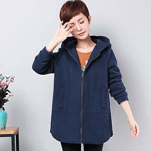 Navy 5XL Xuanku The Middle-Aged Woman With Autumn And Winter Coat Loose Big Yards Thick Sweater
