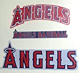 "FATHEAD Los Angeles Angels Team Sign Logo Set of 3 Official MLB Vinyl Wall Graphics 20"" INCH"