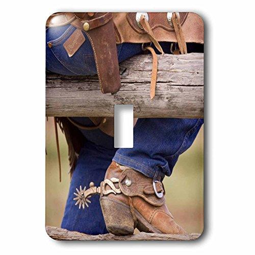 - 3dRose lsp_93537_1 Oregon, Seneca, Ponderosa Ranch, Cowboy Us38 Bja0336 Jaynes Gallery Light Switch Cover
