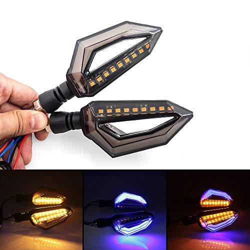 evomosa Universal Motorcycle 12 LED Turn Signal Lights Blinker Front Rear Lights Indicator for Harley Yamaha Suzuki