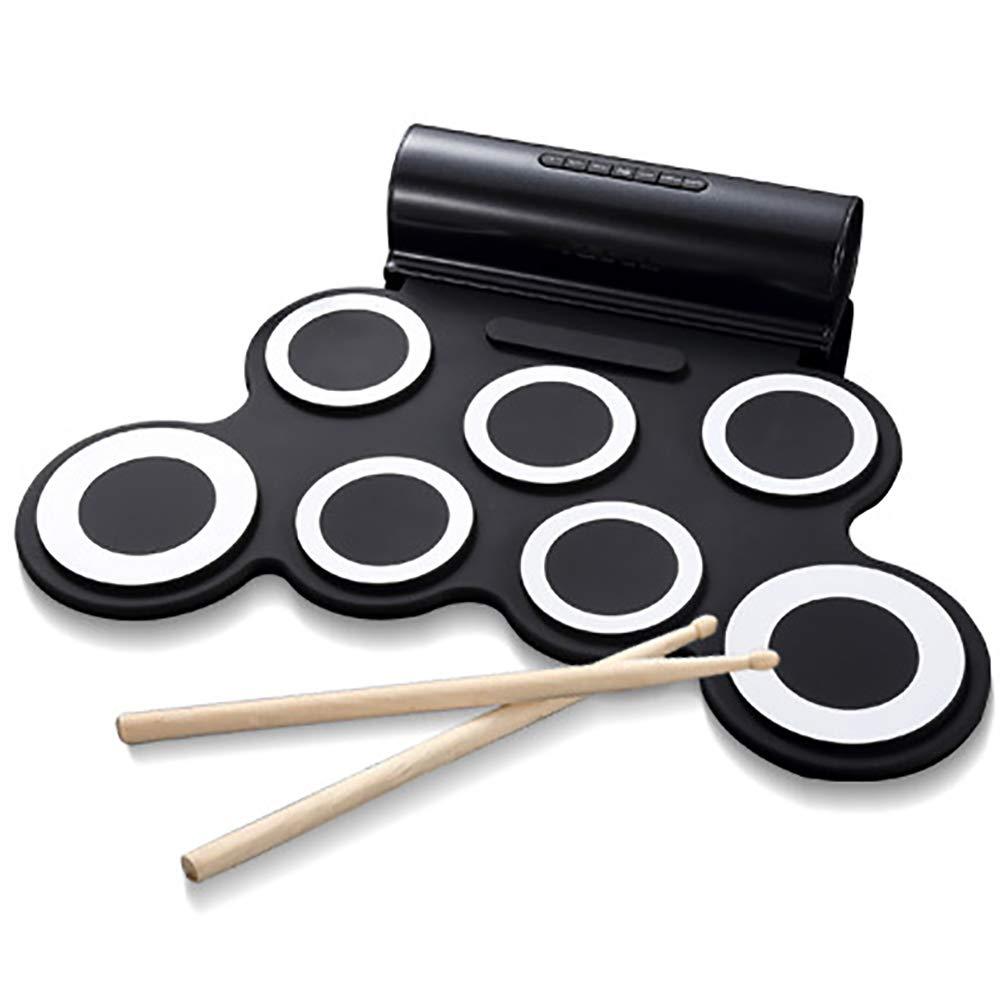 人気特価激安 ロールアップドラム練習パッドポータブル電子ドラムセット、ヘッドフォンジャック内蔵スピーカー練習ドラムスターターのための完璧な、初心者のための素晴らしい休日の誕生日の贈り物子供のための,Black Black Black B07MJB4TWJ B07MJB4TWJ, free stitch:ece79177 --- a0267596.xsph.ru
