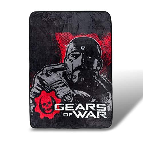 JUST FUNKY Gears of Wars Fleece Blanket | Licensed Gears of War Merchandise 45 x 60 Inches