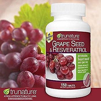 TruNature Grape Seed & Resveratrol - 150 Tablets