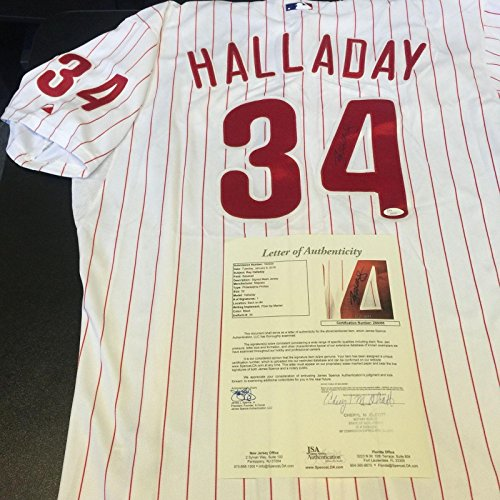 (Autographed Roy Halladay Jersey - Game Model COA - JSA Certified - Autographed MLB Jerseys)