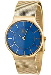Danish Design Women's 26mm Gold-Tone Steel Bracelet & Case Quartz Blue Dial Analog Watch IV07Q732
