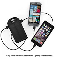 16000mAh Portable Waterproof Solar Charger Dual USB External Battery Power Bank-BLACK