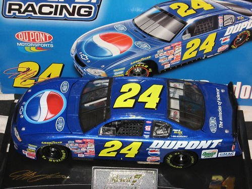 2001 Jeff Gordon #24 Pepsi Monte Carlo 1/24 Scale Opening Hood, Opening Trunk With Hard Acrylic Display Case & Certificate of Authenticity Revell Collection Only 15016 Produced ()