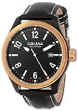 Golana Swiss Men's  AE200-1 Aero Pro 200 Analog Quartz Chronograph Black Leather Watch