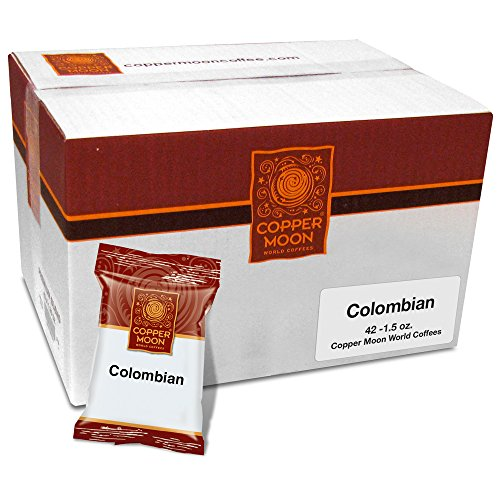 Copper Moon Colombian Coffee, Portion Packs, 1.5 Ounces, 42 Count