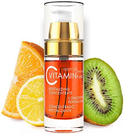 Noche Y Dia Vitamin C Serum - Daily Anti Aging Formula for Face & Skin - Brighten & Even Skin Tone - Reduce Appearance Of Wrinkles, Dark Circles, Fine Lines, Sun Damage - Boost Collagen - 1.02 oz