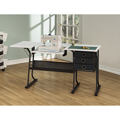 [US Stock] Anbeaut Home Adustable Sturdy Hobby Sewing Table Cabinet Center