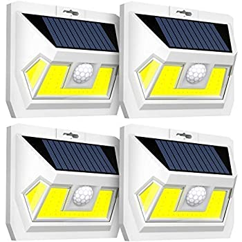Solar Motion Sensor Light Juslit 74 Cob Led Solar Lights