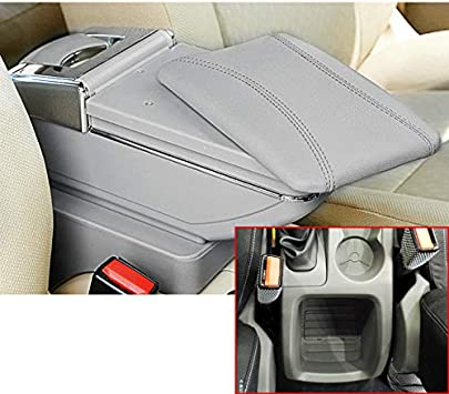 For Focus 2 MK2 2009-2012 High-End Center Console Armrest Box Car Storage Organizer with Cup Holder Removable ashtray 7 USB Charging Ports Organizer Accessories Black