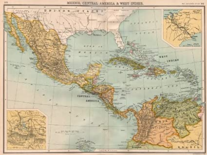 Amazon.com: CENTRAL AMERICA. Mexico & Caribbean. Panama ...