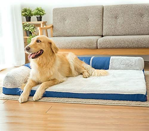 [ENDURING]:ペットベッド ペットソファ 洗える 通気性が良い 柔らかい 暖かい 四季のユニバーサルソファベッド ストライプ スクエア型 キャンバス 猫用ベッド 犬用ベッド ペット用品 ワインレッドB XXXL