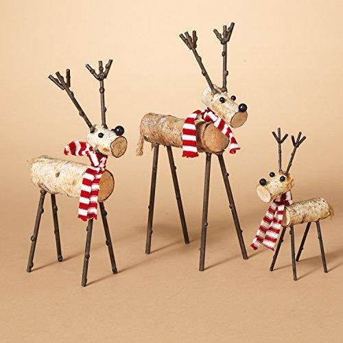 Gerson International 2272270ec 3 Assorted Metal & Wood Quirky Deer -