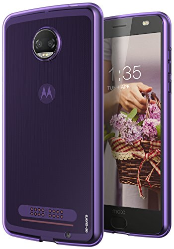 Price comparison product image Moto Z2 Force Case, As-Guard Ultra [Slim Thin] Flexible TPU Soft Skin Silicone Protective Case Cover For Motorola Moto Z2 Force Edition (Purple)