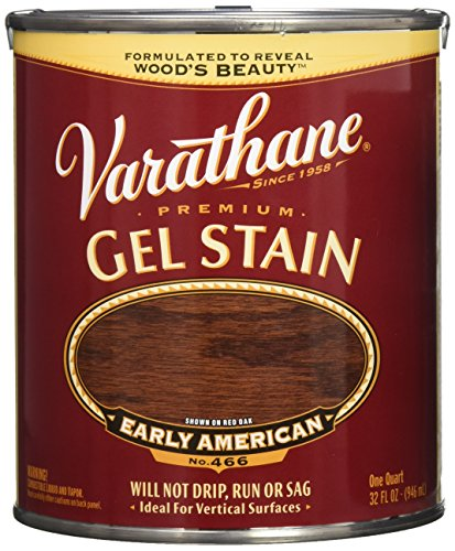 Varathane 224492H Premium Gel Stain, Quart, Early American - Early American Color
