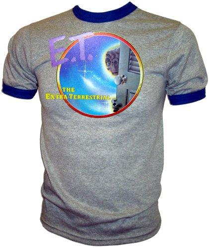 - Vintage 1982 Steven Spielberg E.T. The Extra Terrestrial Promotional ET adult ringer T-Shirt