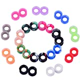 silicone plugs 16mm - D&M Jewelry 32 Pcs Mixed Colorful Thin Silicone 2g-3/4