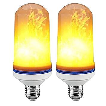 ZXYWW Efecto De Llama LED Bombilla De Luz E26 E27 Base De Simulación De Parpadeo De