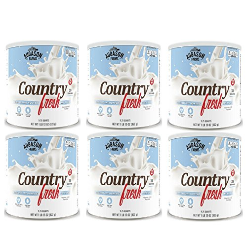 Augason Farms, Country Fresh 100% Real Instant Nonfat Dry Milk, 1lb 13oz (Pack of 6) by .