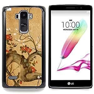 - Tree Branch Flowers Blossoming Red Brown - Caja del tel????fono delgado Guardia Armor- For LG G Stylo / LG LS770 / LG G4 Stylus Devil Case