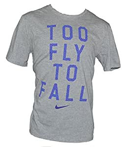 Nike Men's Too Fly To Fall T-Shirt Large Grey Purple