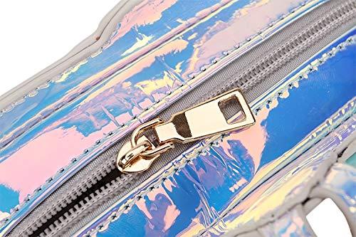 de lettres Pnizun Mode Mignon sac Messenger sac main Laser de à TV bandoulière Sac Fille Mesdames sac Mini femmes Transparent à de Design Cartoon bandoulière r8rg4xq