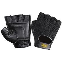 Everlast Mesh Leather Glove, (Black)